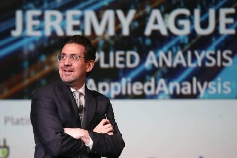 Jeremy Aguero, principal for Las Vegas-based Applied Analysis, speaks during the Las Vegas Metr ...