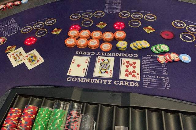 The winning Mississippi Stud hand. (Paris Las Vegas)